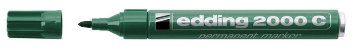 Alkoholos marker, 1,5-3 mm, kúpos, EDDING 2000, zöld