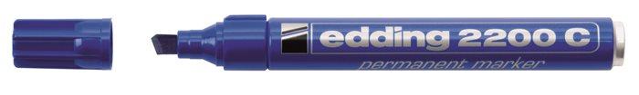 Alkoholos marker, 1-5 mm, vágott, EDDING 2200, kék