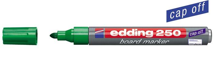 Tábla- és flipchart marker, 1-3 mm, kúpos, EDDING 250, zöld