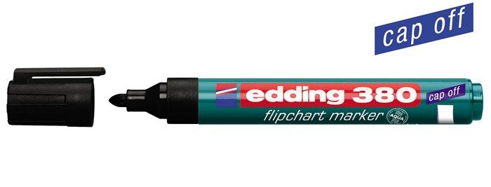 Flipchart marker, 1,5-3 mm, kúpos, EDDING 380, fekete