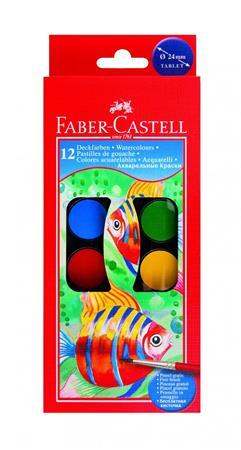 Vízfesték, 12 darabos, 24 mm, FABER-CASTELL
