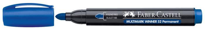 Alkoholos marker, 2,8 mm, kúpos,  FABER-CASTELL Multimark Winner 52, kék