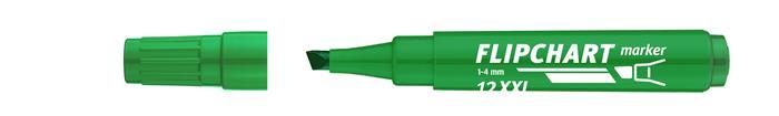 Flipchart marker, 1-4 mm, vágott, ICO Artip 12 XXL, zöld