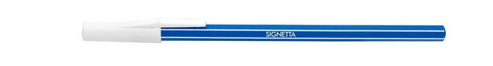 Golyóstoll, 0,7 mm, kupakos, ICO Signetta, kék