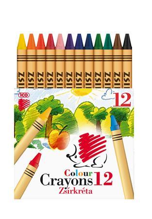 Zsírkréta, ICO Süni, 12 különböző szín