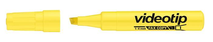 Szövegkiemelő, 1-4 mm, ICO Videotip, sárga