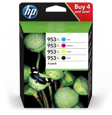 3HZ52AE Tintapatron multipack, OfficeJet Pro 8210, 8700-as sorozathoz, HP 953XL, b+c+m+y, 2k+3*1,6k