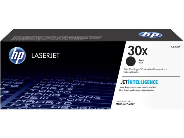 CF230X Lézertoner Laserjet M203, M227 nyomtatókhoz, HP 30X, fekete, 3,5k