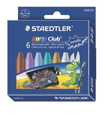 Zsírkréta, STAEDTLER Noris 2240, 6 metál szín