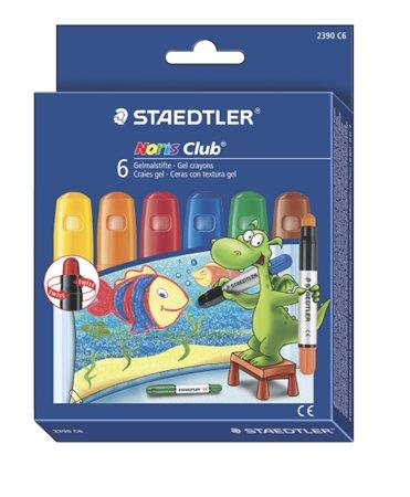 Zsírkréta, zselés, STAEDTLER Noris 2390, 6 különböző szín