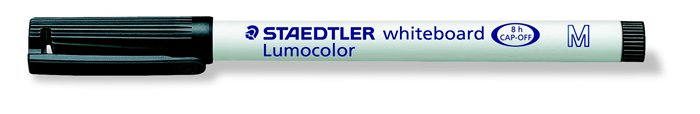 Táblamarker, 1 mm, M, kúpos, STAEDTLER Lumocolor 301, fekete
