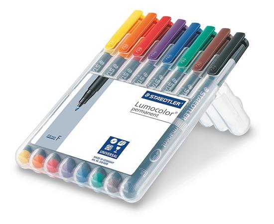 Alkoholos marker készlet, OHP, 0,6 mm, STAEDTLER Lumocolor 318 F, 8 különböző szín