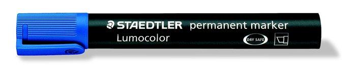 Alkoholos marker, 2-5 mm, vágott, STAEDTLER Lumocolor 350, kék