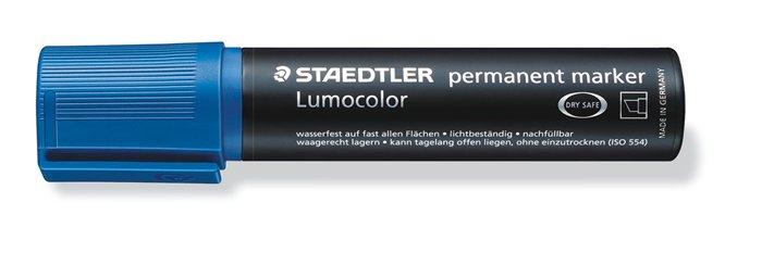 Alkoholos marker, 2-12 mm, vágott, STAEDTLER Lumocolor 388, kék