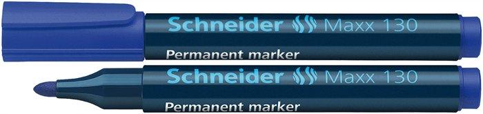 Alkoholos marker, 1-3 mm, kúpos, SCHNEIDER Maxx 130, kék