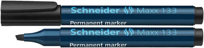 Alkoholos marker, 1-4 mm, vágott, SCHNEIDER Maxx 133, fekete
