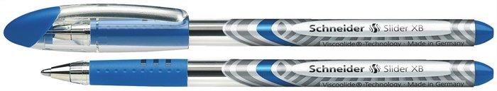 Golyóstoll, 0,7 mm, kupakos, SCHNEIDER Slider Basic XB, kék