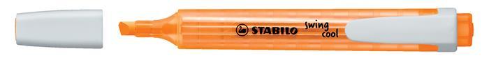 Szövegkiemelő, 1-4 mm, STABILO Swing Cool, narancssárga