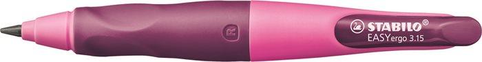 Nyomósirón, 3,15 mm, jobbkezes, ajándék hegyezővel, STABILO EasyErgo Start, rózsaszín