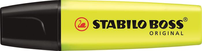 Szövegkiemelő, 2-5 mm, STABILO BOSS original, sárga