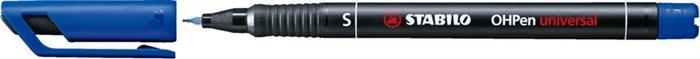 Alkoholos marker, 0,4 mm, STABILO OHPen S, kék