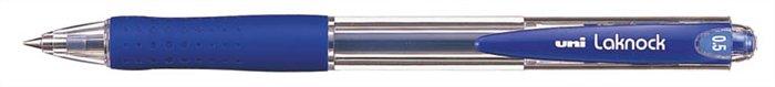 Golyóstoll, 0,3 mm, nyomógombos, UNI SN-100 Laknock, kék