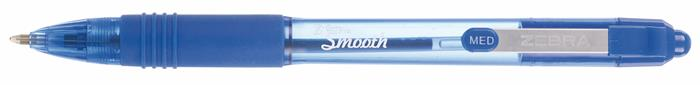 Golyóstoll, 0,27 mm, nyomógombos, ZEBRA Z-Grip Smooth, kék