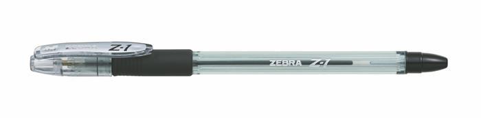 Golyóstoll, 0,24 mm, kupakos, ZEBRA Z-1, fekete