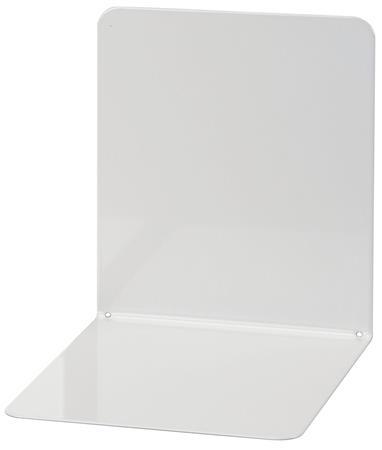 Könyvtámasz, fém, 2 db, 14x12x14 cm, WEDO, világosszürke