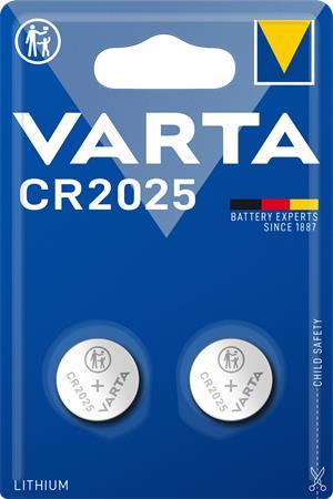 Gombelem, CR2025, 2 db, VARTA