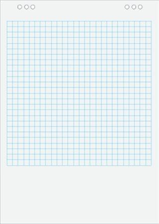 Négyzethálós flipchart papír, 65x91 cm, 5x20 lap