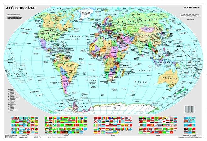 Könyökalátét, kétoldalas, STIEFEL Föld országai/Gyermek-világtérkép