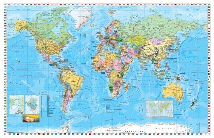 Könyökalátét, kétoldalas, STIEFEL Föld országai/ Közép-Európa autótérképe