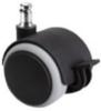 d.50 görgő forgószékhez | parkettára | mechanikus fékes | 50 mm átmérő | 11 mm csap átmérő