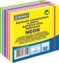 Öntapadó jegyzettömb, 76x76mm, 400 lap, DONAU, neon és pasztell színek