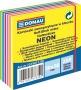 Öntapadó jegyzettömb, 50x50mm,250 lap, DONAU, fehér és neon színek