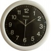 Falióra, 30 cm, SECCO 'Sweep Second', ezüst/fekete