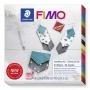 Gyurma készlet, 4x25 g, égethető, FIMO 'Leather Effect', ékszer