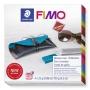 Gyurma készlet, 4x25 g, égethető, FIMO 'Leather Effect', szemüvegtok