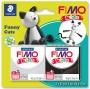 Gyurma készlet, 2x42 g, égethető, FIMO 'Kids', vicces cicák