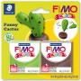 Gyurma készlet, 2x42 g, égethető, FIMO 'Kids', vicces kaktusz