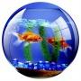 Egéralátét, kör alakú, FELLOWES 'Brite™', akvárium