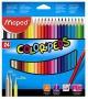 Színes ceruza készlet, háromszögletű, MAPED 'Color`Peps', 24 különböző szín