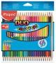Színes ceruza készlet, háromszögletű, kétvégű, MAPED 'Color`Peps Duo', 48 különböző szín