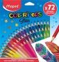 Színes ceruza készlet, MAPED 'Color`Peps', 72 különböző szín