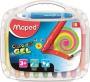 Zsírkréta, kitekerhető, MAPED 'Color`Peps GEL', 10 különböző szín