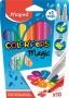 Filctoll készlet, 3,6 mm, MAPED 'Color`Peps Magic', 8+2 különböző szín