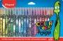 Filctoll készlet, 2,8 mm, kimosható, MAPED 'Color`Peps Monster' 24 különböző szín