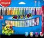 Filctoll készlet, 2,8 mm, kimosható, MAPED 'Color`Peps Jungle', 18 különböző szín