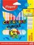 Filctoll készlet, 2,8 mm, kimosható, MAPED 'Color`Peps Jungle' 12 különböző szín+12 ajándék matrica
